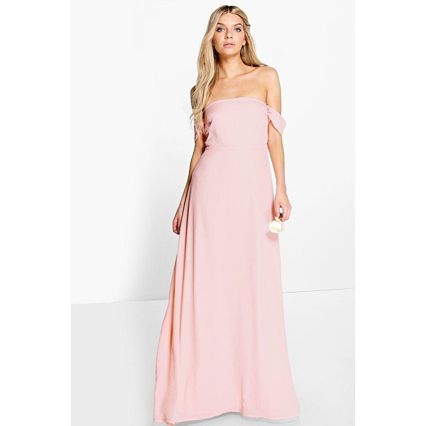 BOOHOO Lauren Chiffon Off The Shoulder Maxi Dress - Dresses are the most-wanted wardrobe item for day-to-night...