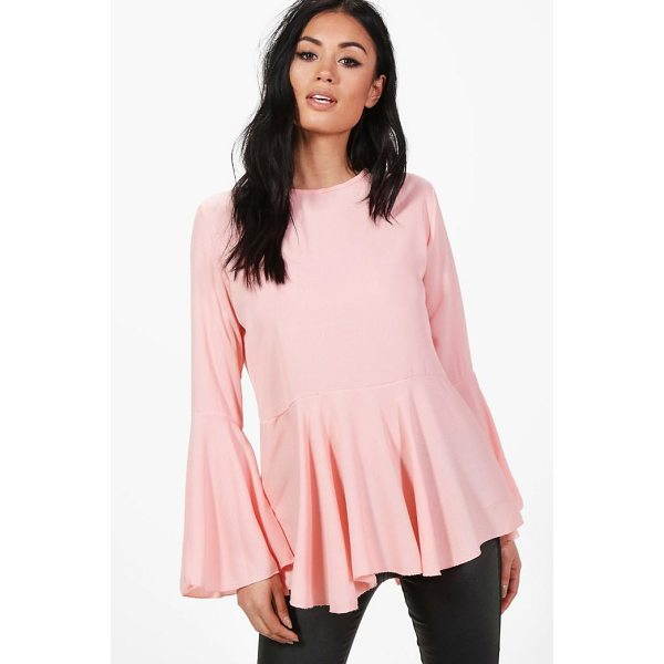 BOOHOO Lauren Wide Sleeve Blouse - Steal the style top spot in a statement separate from the...