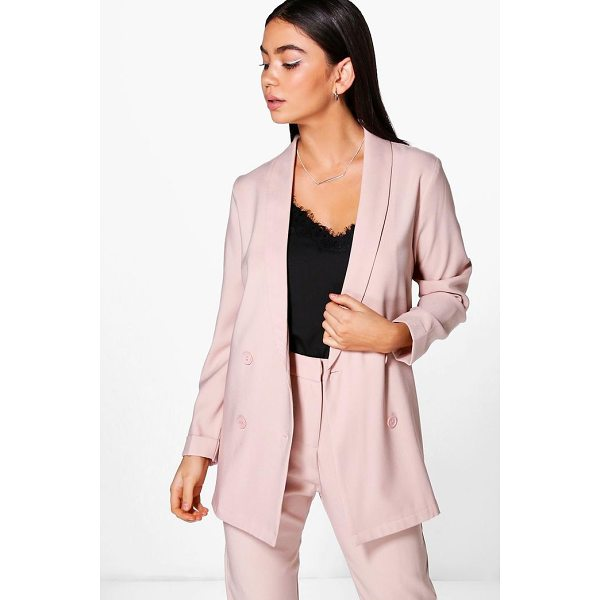 BOOHOO Layla Boutique Double Breasted Structured Blazer - Wrap up in the latest coats and jackets and get out-there...