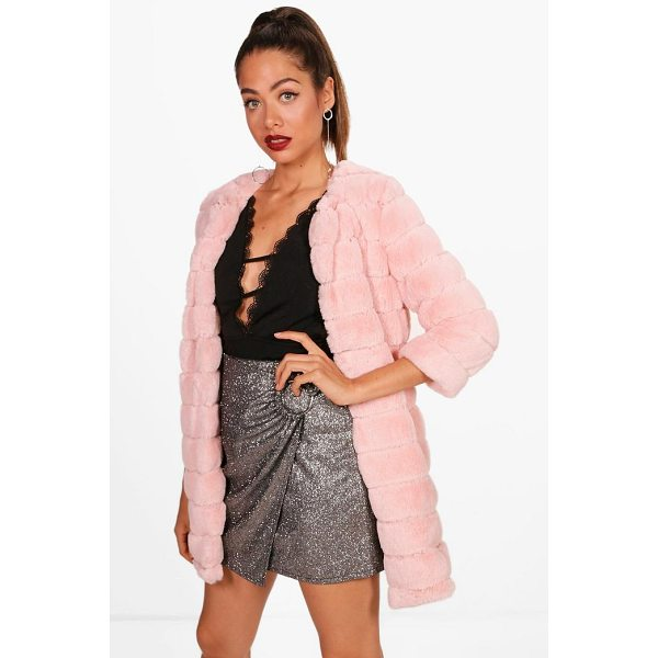 BOOHOO Layla Faux Fur Coat - Wrap up in the latest coats and jackets and get out-there...
