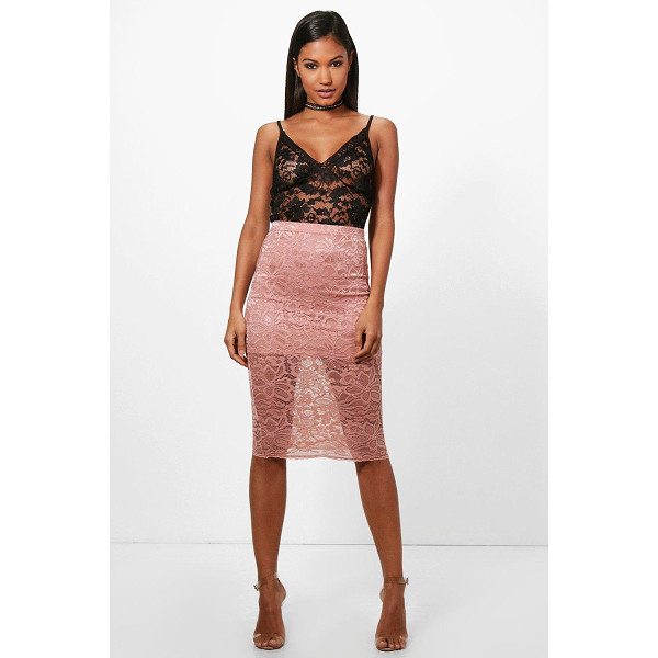 BOOHOO Leah Basic Lace Midi Skirt - Skirts are the statement separate in every wardrobe This...