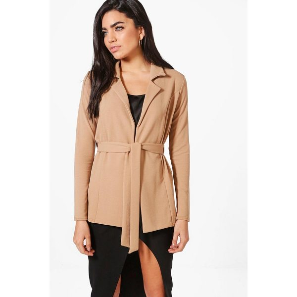 BOOHOO Leah Belted Blazer - Wrap up in the latest coats and jackets and get out-there...