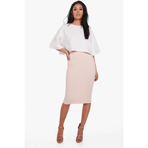 BOOHOO Lexi Boxy Crop And Midi Skirt Co-Ord - Midi skirts are this season's hottest must-have staple...
