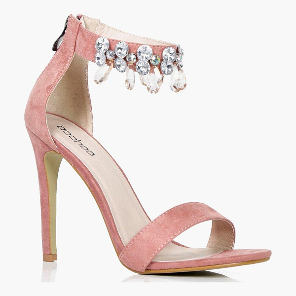 BOOHOO Lexi Embellished Ankle Band 2 Part Heels - We'll make sure your shoes keep you one stylish step ahead...