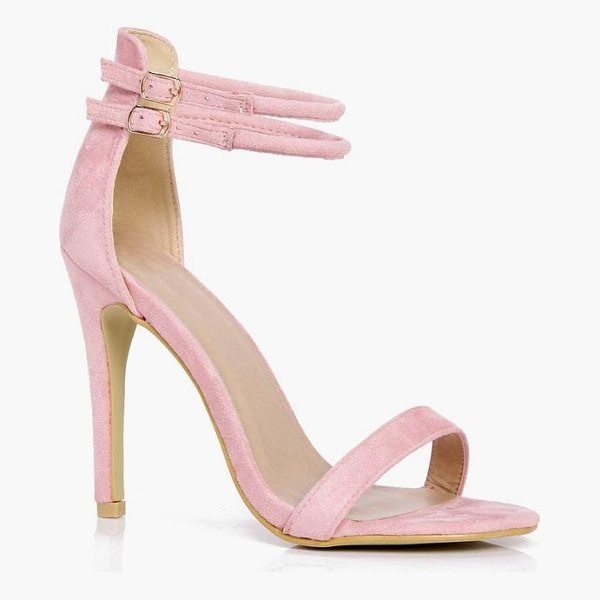 BOOHOO Libby Double Ankle Band 2 Part Heels - We'll make sure your shoes keep you one stylish step ahead...