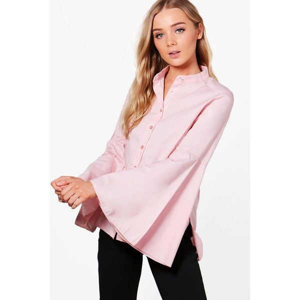 BOOHOO Libby Flare Sleeve Woven Shirt - Steal the style top spot in a statement separate from the...
