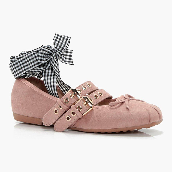 BOOHOO Lily Ribbon Lace Up Ballet - We'll make sure your shoes keep you one stylish step ahead...
