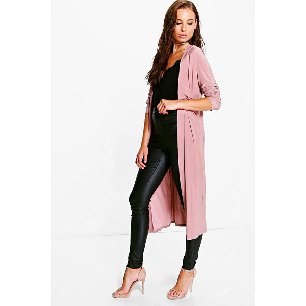 BOOHOO Lily Slinky Duster - Wrap up in the latest coats and jackets and get out-there...