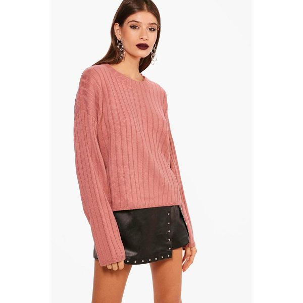 BOOHOO Lily Wide Rib Stem Hem Jumper - Nail new season knitwear in the jumpers and cardigans that...