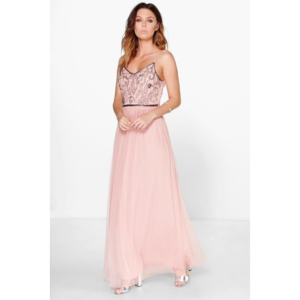 BOOHOO Lisa Boutique Embellished Prom Maxi Dress - Choosing a prom dress is no easy task. Luckily for you, our...