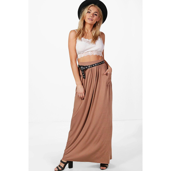 BOOHOO Lizbeth Pocket Front Jersey Maxi Skirt - Skirts are the statement separate in every wardrobe This...