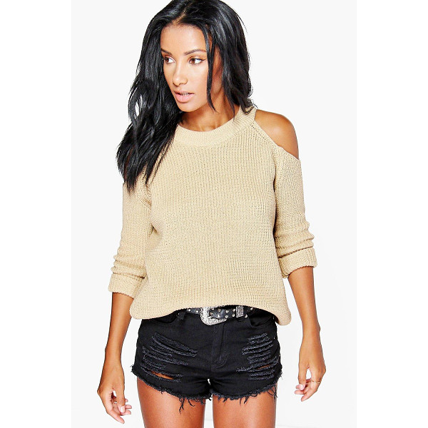 BOOHOO Lois Cold Shoulder Jumper - Nail new season knitwear in the jumpers and cardigans that...