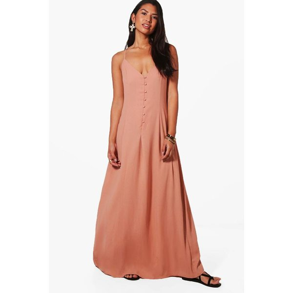 BOOHOO Lola Button Through Maxi Dress - Dresses are the most-wanted wardrobe item for day-to-night...