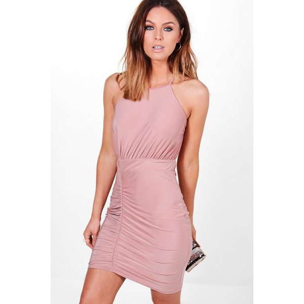 BOOHOO Lola Slinky Strappy Back Detail Bodycon Dress - Dresses are the most-wanted wardrobe item for day-to-night...