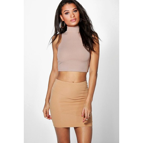 BOOHOO Lorelai Ribbed Panel Mini Skirt - Skirts are the statement separate in every wardrobe This...
