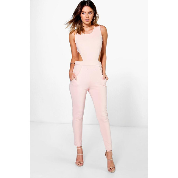 BOOHOO Lottie Side Cut Out Skinny Leg Jumpsuit - Jumpsuits are your day-to-night dress alternativeYour 70s...