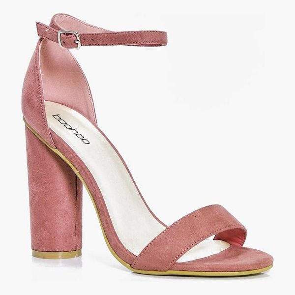 BOOHOO Louise Cylinder Block Two Part Heels - We'll make sure your shoes keep you one stylish step ahead...