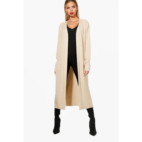 BOOHOO Louise Maxi Fine Rib Cardigan - Nail new season knitwear in the jumpers and cardigans that...