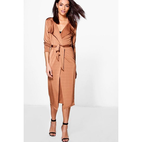 BOOHOO Louise Tie Waist Duster & Skirt Co-Ord Set - Co-ordinates are the quick way to quirky this seasonMake...