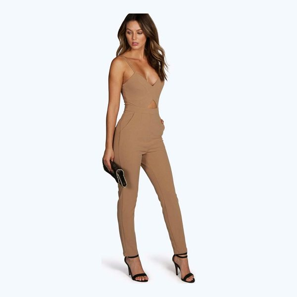 BOOHOO Lucie Cut Out Jumpsuit - Jumpsuits are your day-to-night dress alternativeYour 70s...