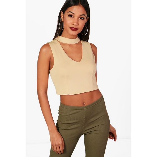 BOOHOO Lucy Choker Crop Top - Steal the style top spot in a statement separate from the...