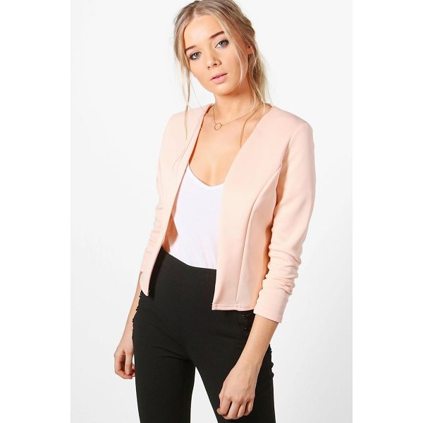 BOOHOO Lucy Crop Fitted Blazer - Wrap up in the latest coats and jackets and get out-there...