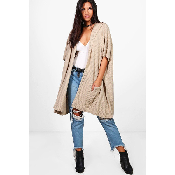 BOOHOO Lucy Hooded Cape Cardigan - Nail new season knitwear in the jumpers and cardigans that...