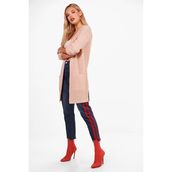 BOOHOO Lucy Ribbed Knitted Edge To Edge Cardigan - Nail new season knitwear in the jumpers and cardigans that...