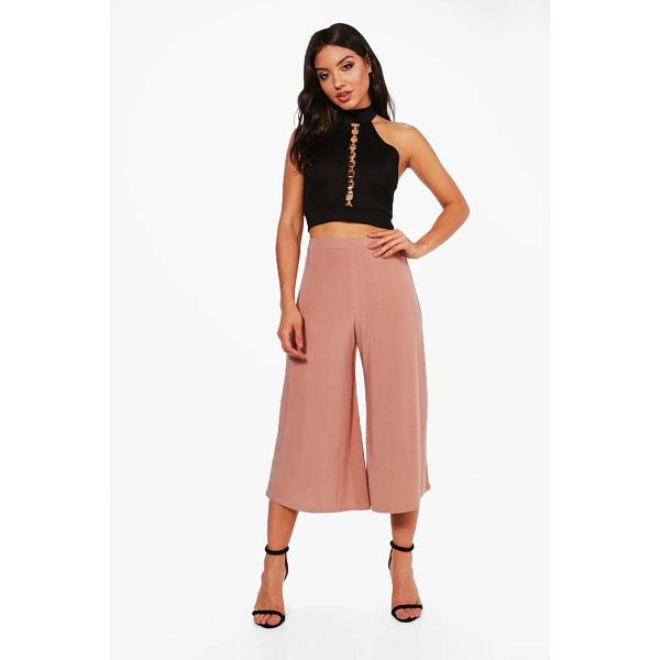 BOOHOO Lucy Soft Slinky Wide Leg Culottes - Trousers are a more sophisticated alternative to...
