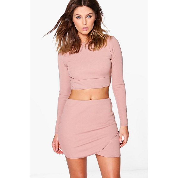 BOOHOO Lydia Bandage Crop & Mini Skirt Co-Ord Set - Co-ordinates are the quick way to quirky this seasonMake...