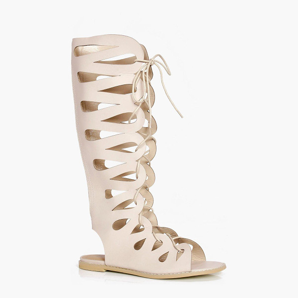 BOOHOO Lydia Ghillie Lace Up Gladiator Knee High Sandals - We'll make sure your shoes keep you one stylish step ahead...