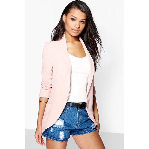 BOOHOO Lydia Turn Cuff Boyfriend Blazer - Wrap up in the latest coats and jackets and get out-there...