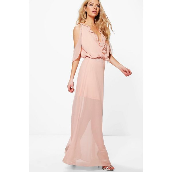 BOOHOO Maddison Ruffle Open Shoulder Maxi Skirt Co-Ord - Co-ordinates are the quick way to quirky this seasonMake...