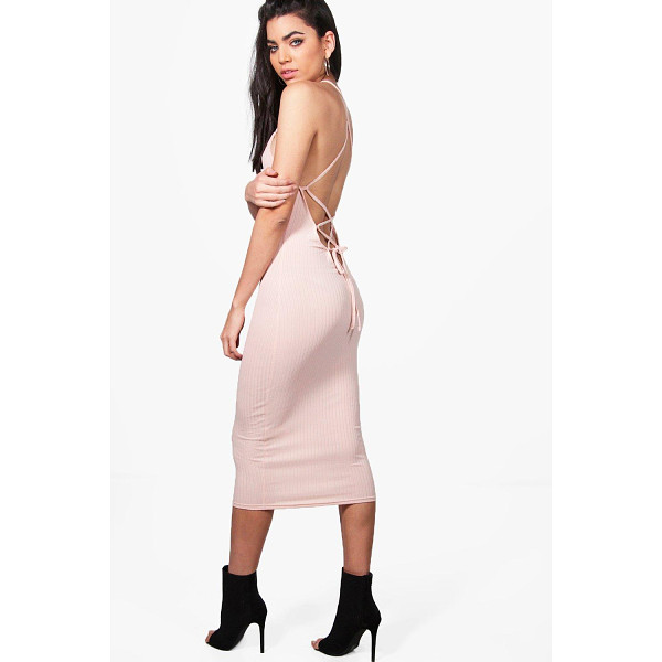 BOOHOO Madison Lace Up Back Strappy Midi Dress - Dresses are the most-wanted wardrobe item for day-to-night...