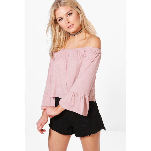BOOHOO Madison Off Shoulder Fitted Sleeve Top - Steal the style top spot in a statement separate from the...