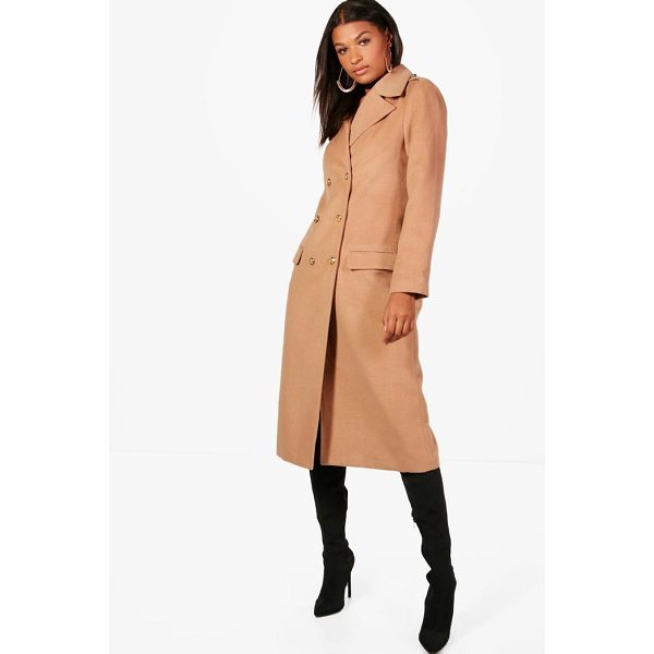 BOOHOO Maisie Double Breasted Military Coat - Wrap up in the latest coats and jackets and get out-there...
