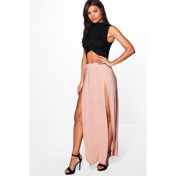 BOOHOO Mara Double Thigh High Split Maxi - Skirts are the statement separate in every wardrobe This...
