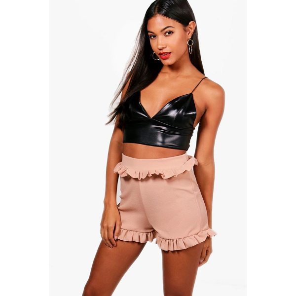 BOOHOO Maren Ruffle Tailored Shorts - Parade your pins in a pair of shortsA versatile...