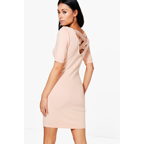 BOOHOO Maria Lace Up Back Jumper Dress - Nail new season knitwear in the jumpers and cardigans that...