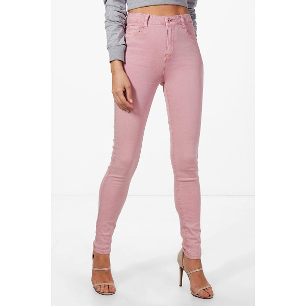 BOOHOO Maria Mid Rise Skinny Jeans - Jeans are the genius wear-with-anything wardrobe...