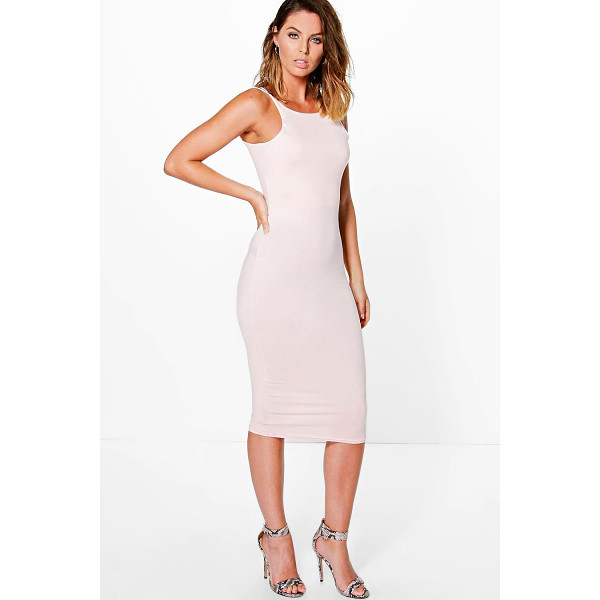 BOOHOO Maurie Double Strap Formal Midi Dress - Get dance floor-ready in an entrance-making evening...