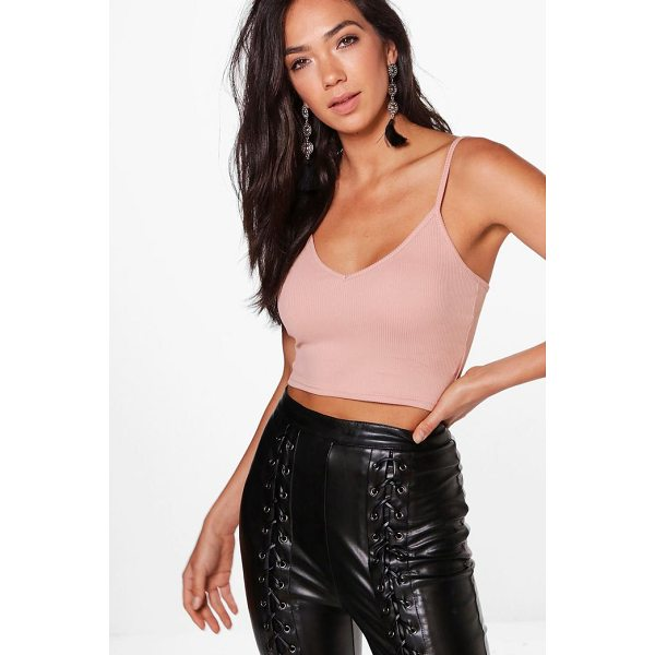 BOOHOO Maya Basic Ribbed Bralet - Step up your fashion game with a must-have crop top. Our...