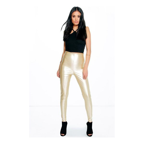 BOOHOO Maya Skinny Side Zip Leather Look Trousers - Trousers are a more sophisticated alternative to...