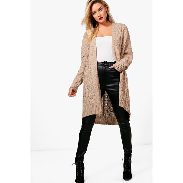 BOOHOO Maya Slouchy Cable Knit Cardigan - For ultimate cosy vibes, you can't go wrong with a...