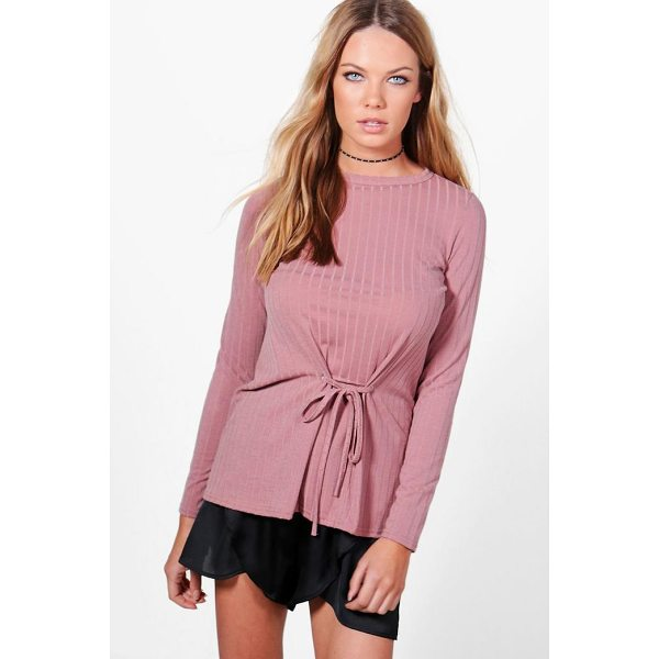 BOOHOO Megan Corset Detail Rib Knit Top - Steal the style top spot in a statement separate from the...