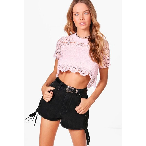 BOOHOO Melissa Crochet Crop Top - Steal the style top spot in a statement separate from the...