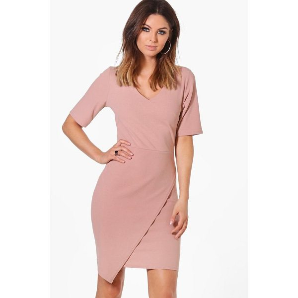 BOOHOO Melissa Wrap Front Dress - Dresses are the most-wanted wardrobe item for day-to-night...