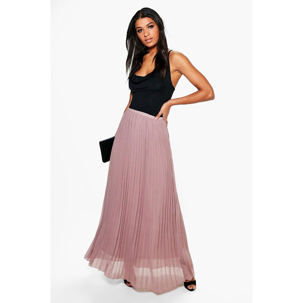 BOOHOO Mia Chiffon Pleated Maxi Skirt - Skirts are the statement separate in every wardrobe This...
