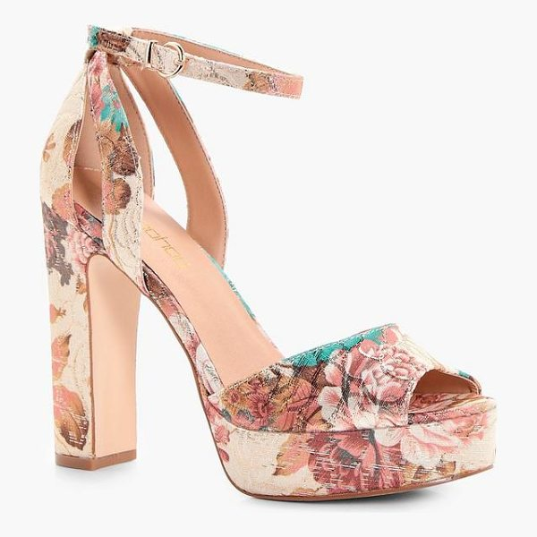 BOOHOO Mia Floral Printed Platform Heels - We'll make sure your shoes keep you one stylish step ahead...