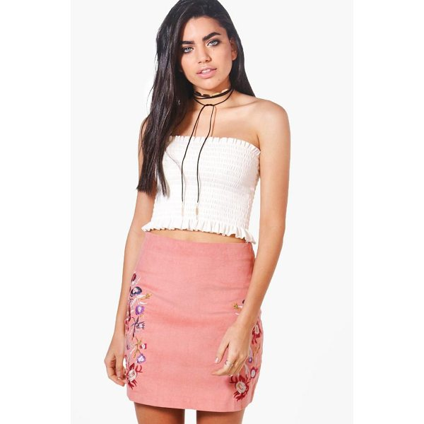 BOOHOO Miah Embroidered Cord A Line Skirt - Skirts are the statement separate in every wardrobe This...